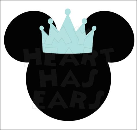 prince mickey mouse ears head instant  digital