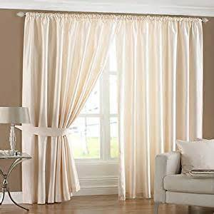 riva home fiji faux silk pencil pleat lined curtains