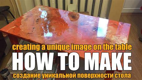 diy   restore  wooden table epoxy homemade