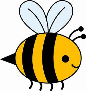 Cute Yellow Bumble Bee - Free Clip Art