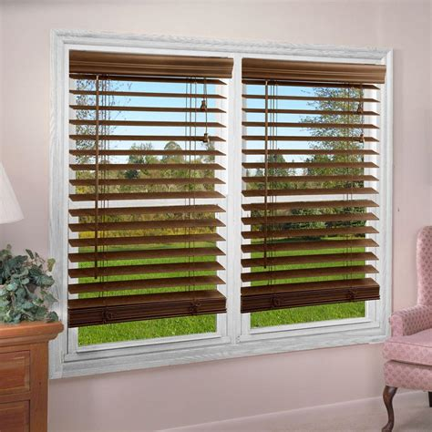 Faux Window Blinds by Lift Window Treatment White 2 In Textured Faux