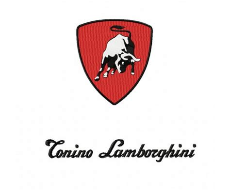 cartoon lamborghini logo tonino lamborghini logo machine embroidery design for