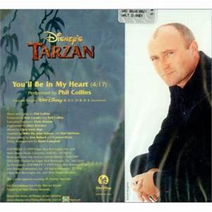 Phil Collins Youu002639ll Be In My Heart Italian Promo Cd Single