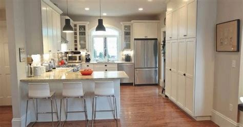 pictures painted kitchen cabinets mondays with our kitchen with peninsula bar 4221