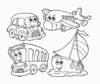Coloring Pages Transportation Air Preschool Popular