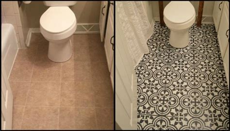 give your bathroom a new look by chalk painting floor
