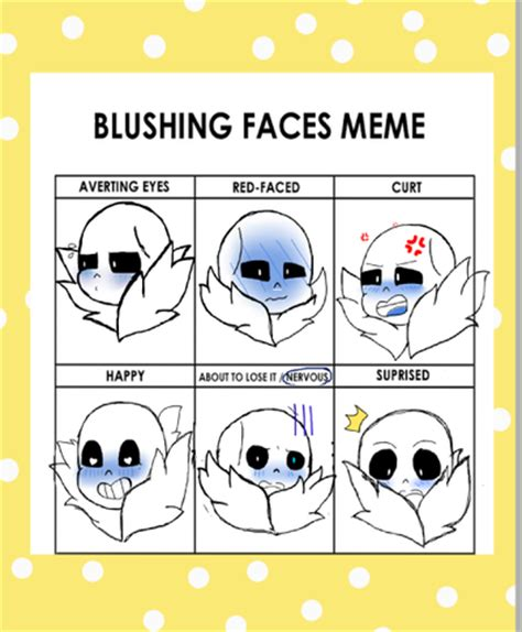 Sans Meme - blushing face meme undertale pictures to pin on pinterest thepinsta