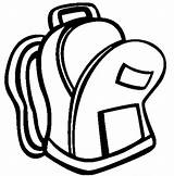 Backpack Coloring Open Pages sketch template