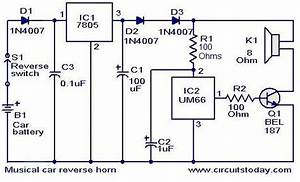 Musical Car Reverse Horn Circuit