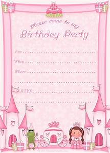 girls printable party kits With princess party invites free templates