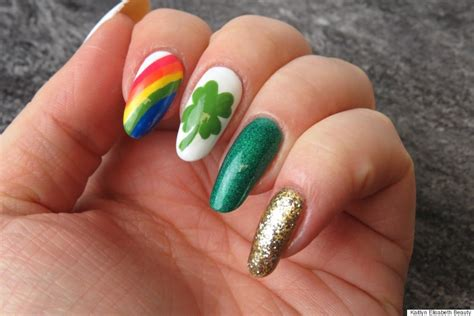 st patricks day nail designs nail a and easy st s day design