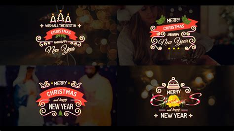 merry christmas titles merry titles by motionshape videohive