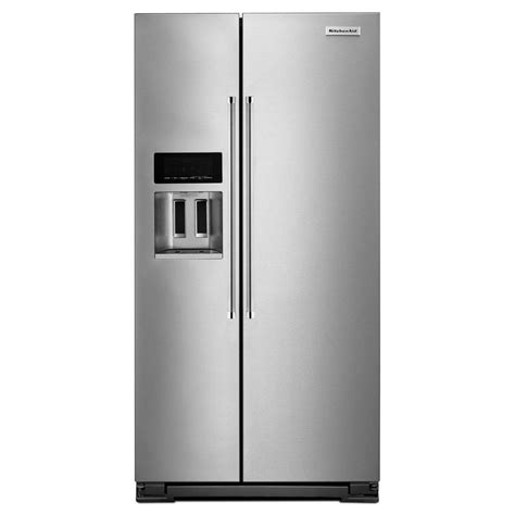 cabinet depth refrigerator krsc503ess kitchenaid 22 7 cu ft counter depth side by