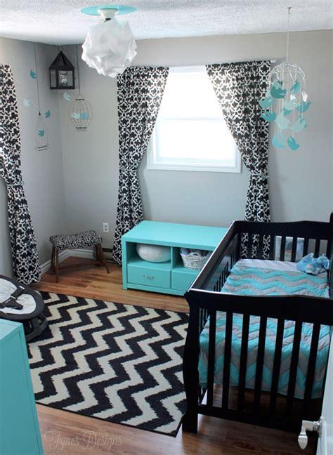 chambre turquoise et noir deco chambre bebe garcon original