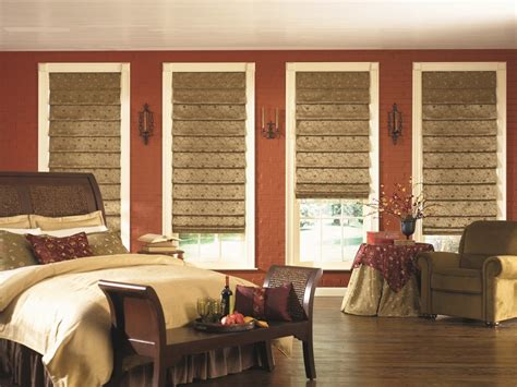 bedroom designs  roman shades