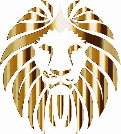 Clipart Lion Golden Transparent Svg Webstockreview Tribal