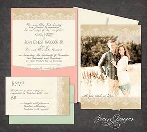 burlap and lace single panel pocket wedding invitation by With single pocket wedding invitations