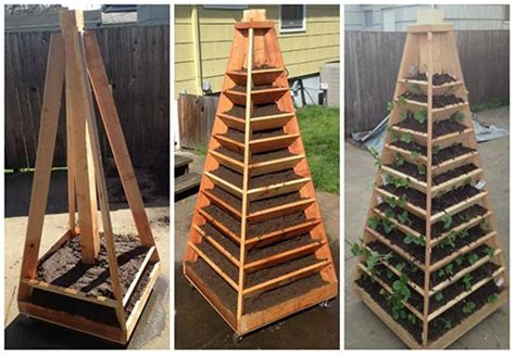 Vertical Gardens How To Build by How To Build A Vertical Garden Pyramid Tower Iseeidoimake