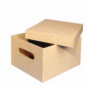 Boite De Rangement Carton : bo te rectangle en carton avec poign e maison pratic boutique pour vos loisirs creatifs et ~ Teatrodelosmanantiales.com Idées de Décoration