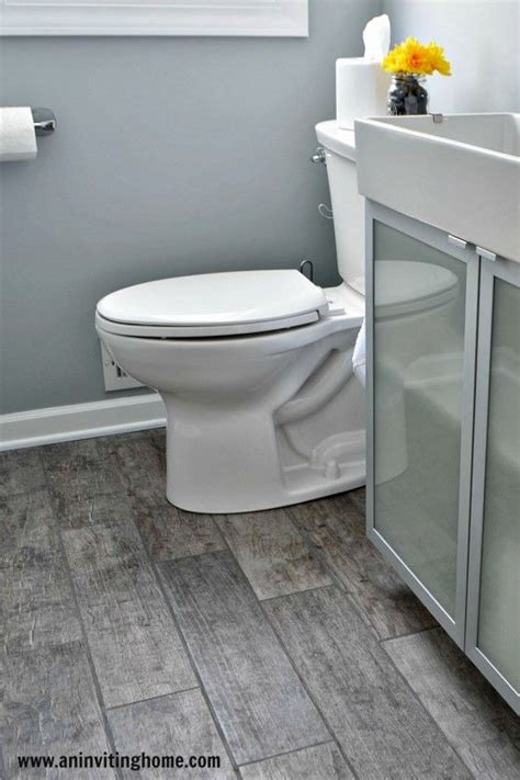 Grey Wood Tile Bathroom by Modern Bathroom Update With Porcelain Wood Tiles An