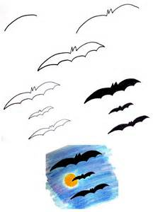 How to Draw a Halloween Bat Easy Drawing Steps
