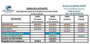 Tarif Piscine Enterrée : planning tarifs atlantic swim ~ Premium-room.com Idées de Décoration