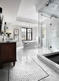 white marble bathroom 10 Stunning Transitional Bathroom Design Ideas to Inspire You