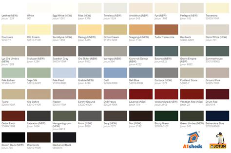 jotun paint colors chart jotun demidekk 174 ultimate 12 year opaque shed summerhouse stain paint