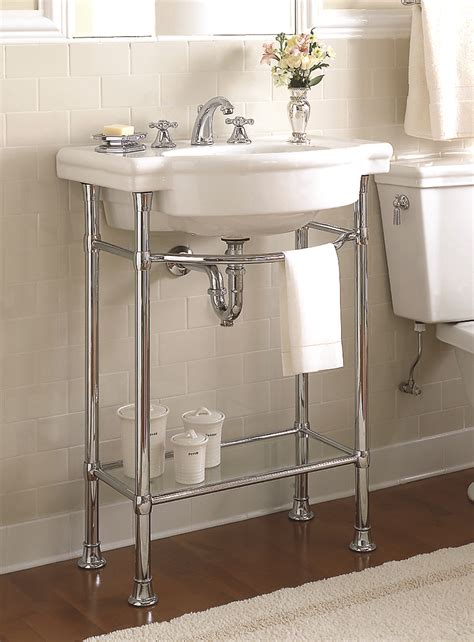Bathroom Sink Metal Legs bathroom console sink for unique free standing sink