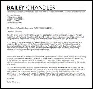 accounts payable resume cover letter accounts payable supervisor cover letter sle livecareer