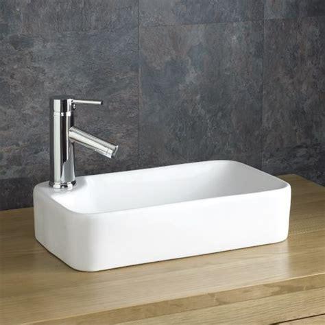 torre mm narrow counter top white rectangular bathroom