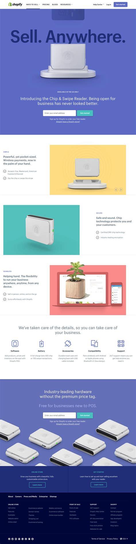 credit card reader landing page design inspiration lapa