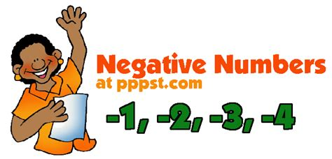 powerpoint   negative numbers