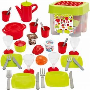 Ecoiffier box mit geschirr fur kinderkuche bei spielzeug24 for Geschirr für kinderküche
