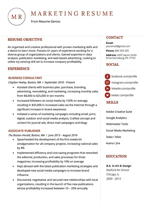 Marketing Resumes by Marketing Resume Sle Writing Tips Resume Genius