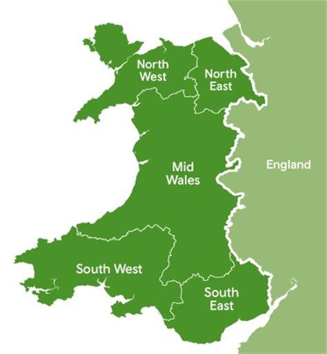 Regions Of Wales Walesm