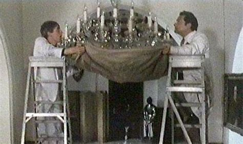 bungling workmen accidentally recreate chandelier