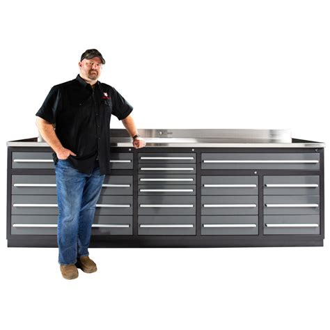 drawer heavy duty  steel garage workbench
