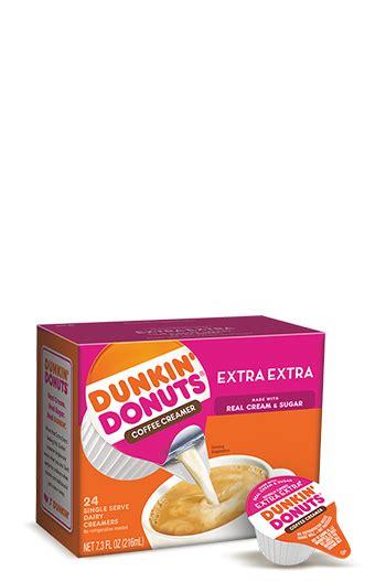 0g trans fat per serving. Dunkin'® Extra Extra Creamer