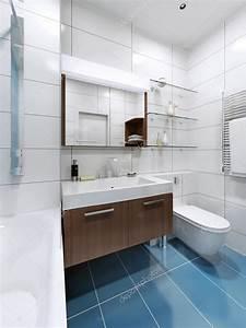 Carrelage Salle De Bain Blanc : blanc salle de bains moderne avec sol en carrelage bleu ~ Melissatoandfro.com Idées de Décoration