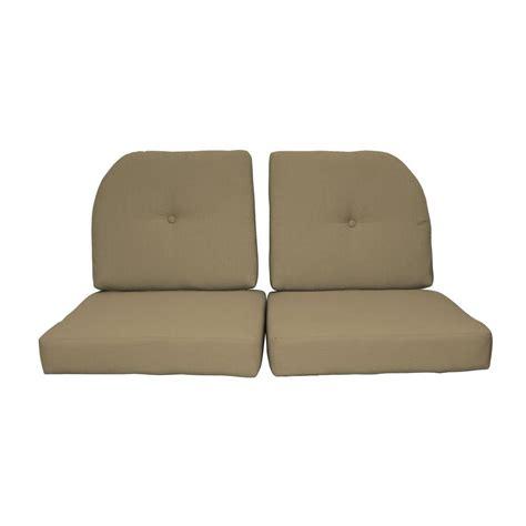 Outdoor Loveseat Cushion by Paradise Cushions Sunbrella Sand 4 Outdoor Loveseat