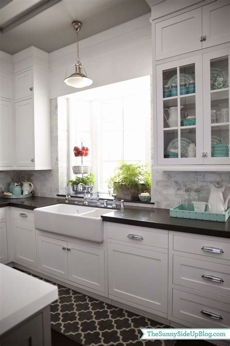 shaker kitchen tiles white cabinets black counter marble backsplash and an 2175