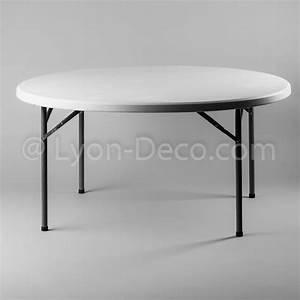 Table Ronde 8 Personnes : location table ronde dia 152cm en poly thyl ne pour 8 personnes ~ Teatrodelosmanantiales.com Idées de Décoration