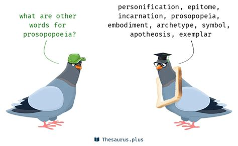 words prosopopoeia  personification  similar meaning