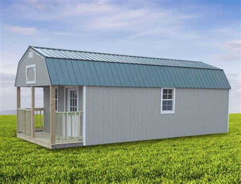 sturdi built sheds and cabins painted lofted cabin sturdi built