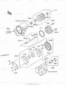 Kawasaki Motorcycle 2009 Oem Parts Diagram For Oil Pump