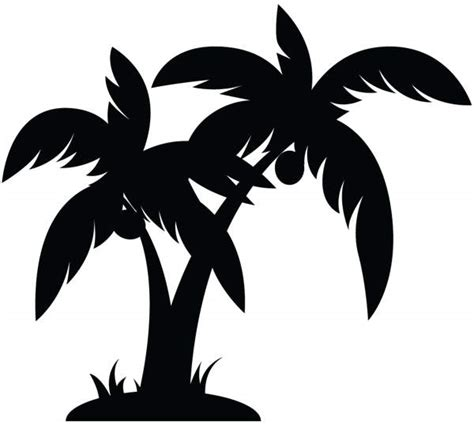 palm tree clipart black and white no background free palm tree clipart pictures clipartix