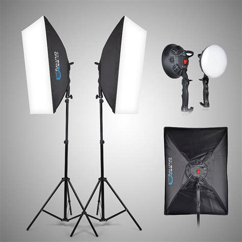 photography led lighting 2x led 5500k photo studio light softbox light