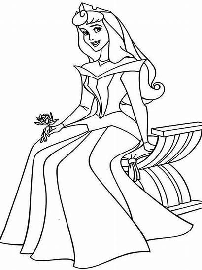 Aurora Coloring Princess Pages Printable Bright Choose