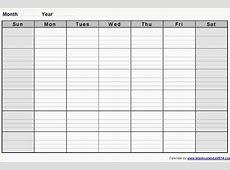 3+ blank weekly calendar template Ganttchart Template
